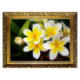 Алмазная мозаика «Желтая плюмерия» 29,5×20,5 см, 25 цветов