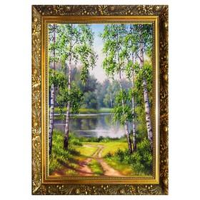 Алмазная мозаика «Березовый рай» 29,5×20,5 см, 25 цветов