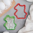 Форма для вырезания из теста и мастики «Семья медведей», цвет МИКС