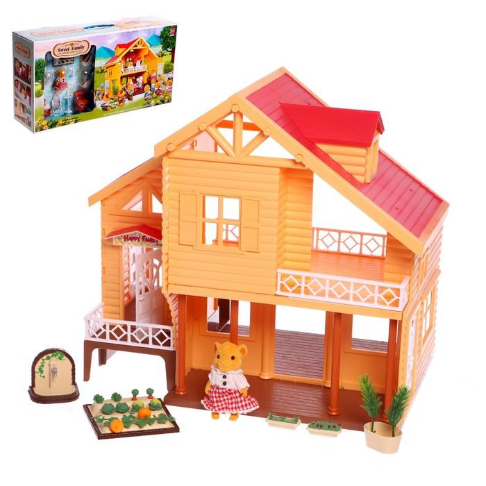 Дом дача для зверей с мебелью и аксессуарами