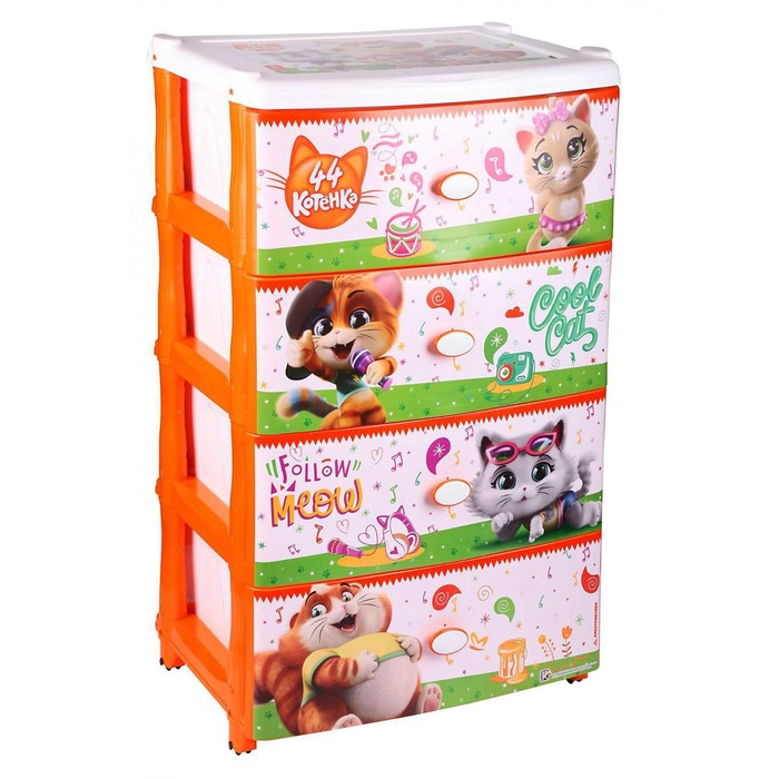 Комод «44 котёнка» 4-х секционный, широкий - фото 105493897