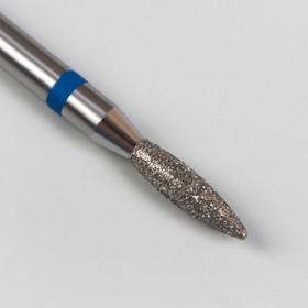 Фреза алмазная для маникюра «Пламя», средняя зернистость, 2,2 × 8 мм