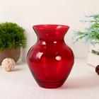 "Vase ""ruby"" d-8.5 cm, 11h14,5cm"