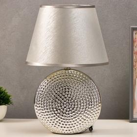 Лампа настольная 7515121TL/1 E14 40Вт серебро 24,5х24,5х37 см