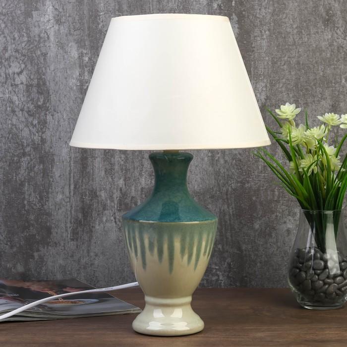 Лампа настольная 7515125TL/1 E14 40Вт лазурный 25х25х39 см - фото 690754606
