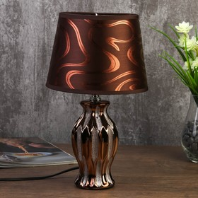 Лампа настольная 7555089TL/1 E14 40Вт золотистое кофе 17х17х29,5 см
