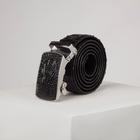 Ремень мужской, ширина - 3,5 см, автомат, цвет чёрный