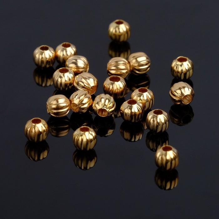 Кримп (зажимная бусина) СМ-392 (набор 10шт), 5мм, цвет золото