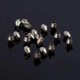 Кримп (зажимная бусина) СМ-402-1 (набор 20шт), 4мм, цвет серебро