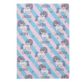 Записная книжка А5, 80 листов клетка Greenwich Line Vision. Unicorns, искусственная кожа, тонированный блок, серебряный срез