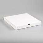 Упаковка для пиццы, белая, 31 х 31 х 3,5 см - фото 3260103
