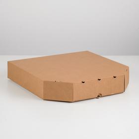 Упаковка для пиццы, бурая, 37 х 37 х 7 см