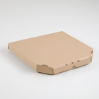 Packaging for pizza, brown 25.5 x 25.5 x 3 cm