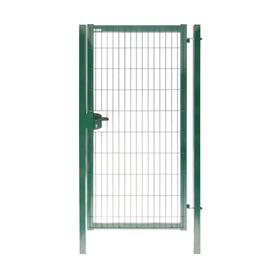 Калитка 1,73х1,0м RAL 6005(зеленый) 4,0мм GL Медиум New с замком  под бетон полим.порошк. покрытие я