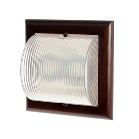 Светильник Ecola НББ-04-80-012, 2*GX53, IP65, 220В, 255х255 мм, матовый, цвет т/орех