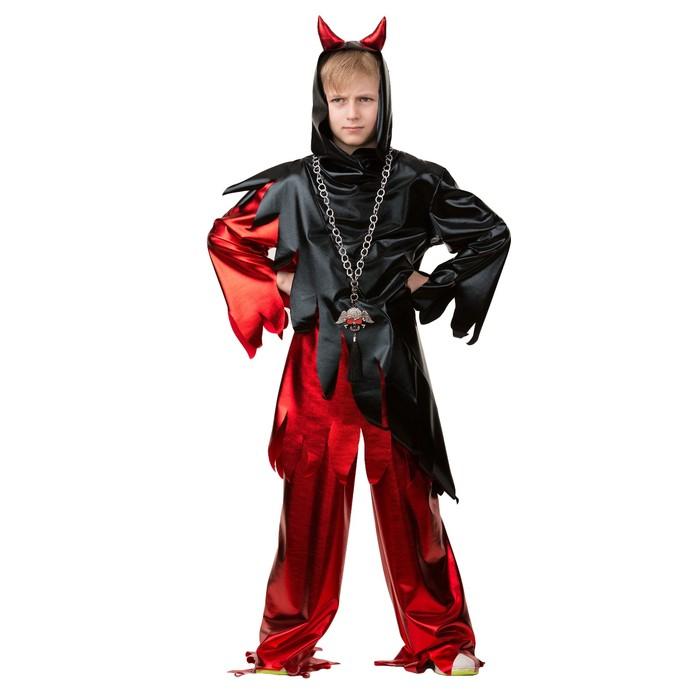 Карнавальный костюм «Демон», рубашка, брюки, р. 34, рост 140 см - фото 455381