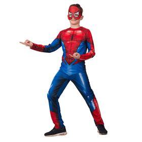 Карнавальный костюм «Человек-паук», куртка, брюки, головной убор, р.32, рост 128 см