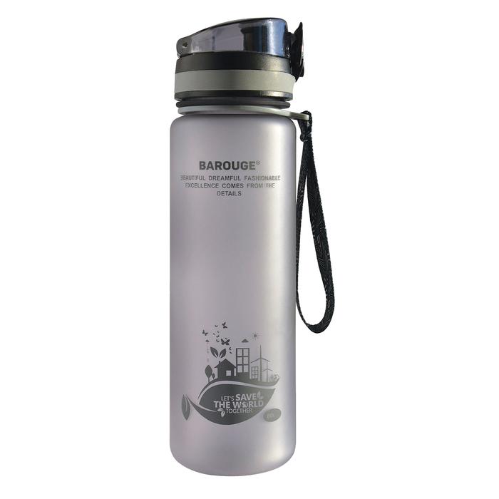 Бутылка для воды Aсtive live 600 мл, серый