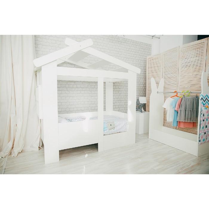 Кровать детская Теремок белый/белый