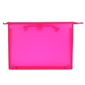 Папка А3, с ручками, пластиковая, молния сверху, 420 х 343 х 50 мм, «Оникс», ПР 3, цвет розовый