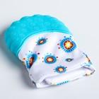 Прорезыватель рукавичка «Овечка», на липучке, цвет МИКС - фото 105525607