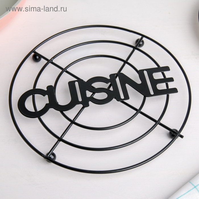 "Stand under a hot ""CUISINE"" 17,9х17,9kh1 cm, color black"