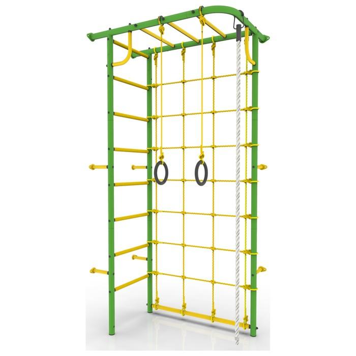 Детский спортивный комплекс «Рукоход угловой», 700 × 1300 × 2250 мм, покрытие ПВХ, цвет зелёный