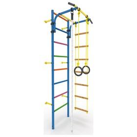 Детский спортивный комплекс «Атлет-2Ц», покрытие ПВХ, цветные ступени, 670 × 870 × 2250 мм, цвет синий