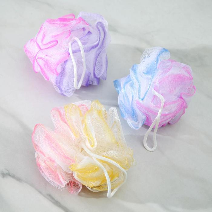 Мочалка для тела двухцветная, цвета МИКС