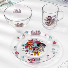 Набор посуды детский «L.O.L. Surprise!», 3 предмета, в подарочной упаковке