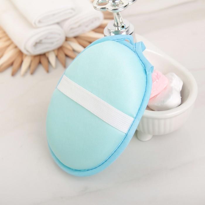 Набор банный 4 предмета: 3 мочалки, шапочка для душа, цвет МИКС
