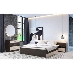Спальня Леси, набор -  комод 800, кровать 1600, тумбы 2 шт , Венге/Дуб белфорд