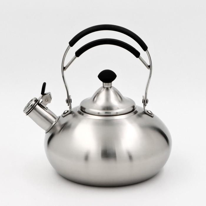 Чайник со свистком «Султан», 2,8 л, капсулированное дно, индукция, цвет МИКС - фото 356992