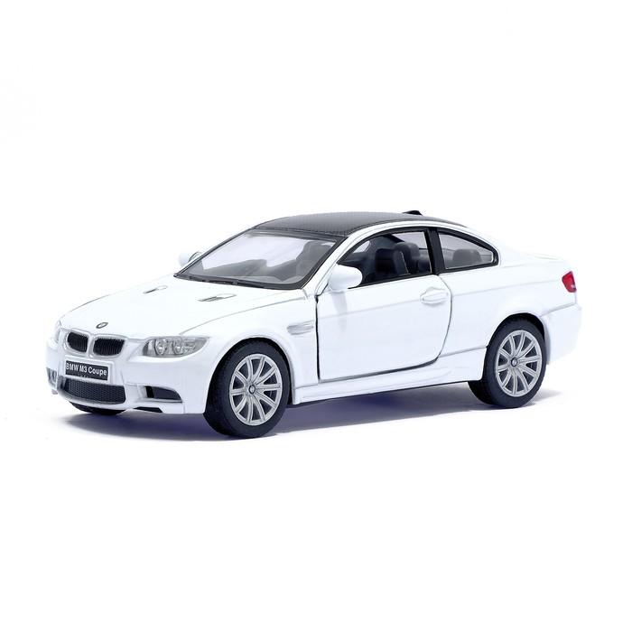 Машина металлическая BMW M3 Coupe, масштаб 1:36, открываются двери, инерция, цвет белый