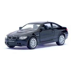 Машина металлическая BMW M3 Coupe, масштаб 1:36, открываются двери, инерция, цвет черный