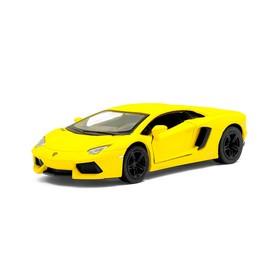 Metal car Lamborghini Matte Series, 1:38, doors open, inertia, matt yellow