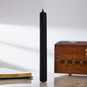 Свеча восковая «Тайна света», 2×20 см, двухцветная: внутри-жёлтая, снаружи-чёрная