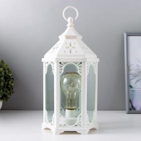 """Ночник """"Старый фонарь"""" LED белый 14х16,5х31 см"""
