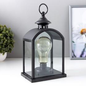 """Ночник """"Фонарь малый"""" LED черный 11х15,5х25,5 см"""