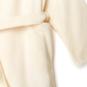 Халат махровый детский, размер 30, цв.молочный 340 г/м2 хл.100% с AIRO
