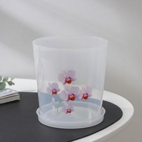 Горшок для орхидей с поддоном, 1,8 л, цвет МИКС