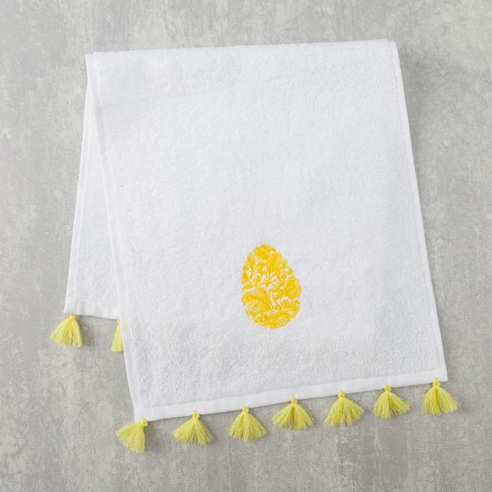 Полотенце махровое Этель «Яйцо» 30×60 см белый, 100% хлопок, 340 г/м²