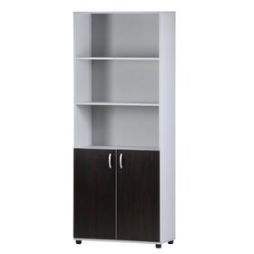 Шкаф-стеллаж 5-ти ярусный, 802х410х1994, Венге/Серый