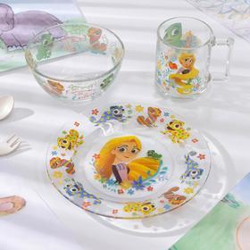 Набор посуды детский «Рапунцель», 3 предмета