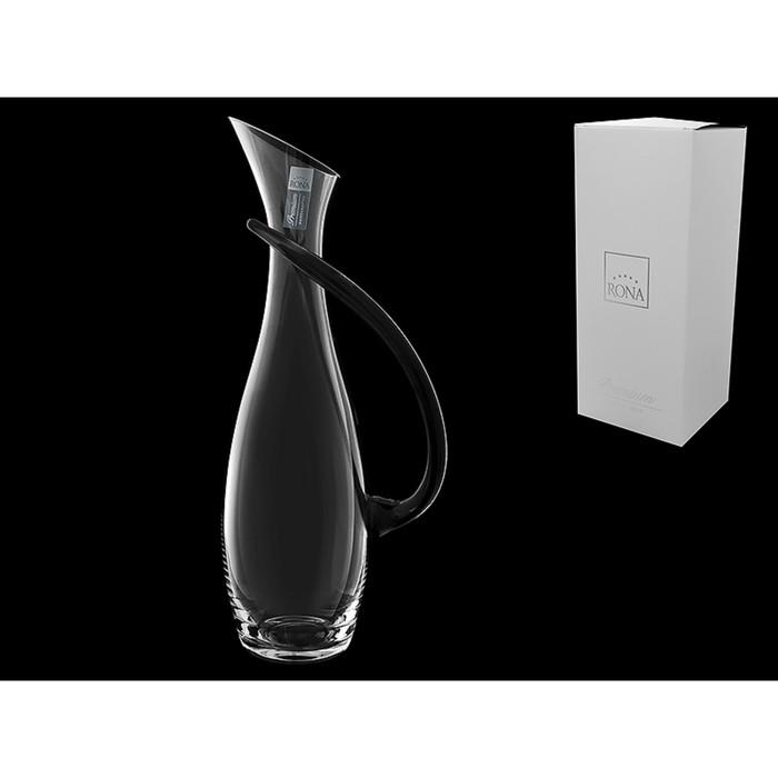 Декантер для вина с чёрной ручкой, 1.4 л, 35 см