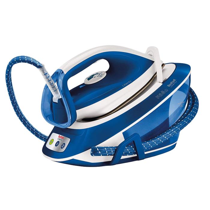 Парогенератор Tefal SV7041, 2200 Вт, паровой удар 360 г/мин, 1.5 л, бело-синяя