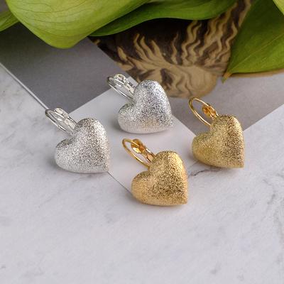 """Metal earrings """"Reflex"""" heart, MIX color"""