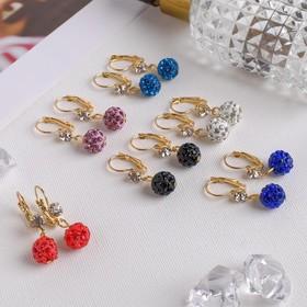 Earrings with rhinestones Shambhala leek, MIX color gold