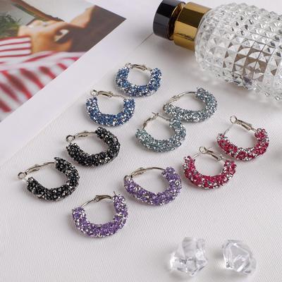"Hoop earrings ""Chantal"" East, MIX color in silver"