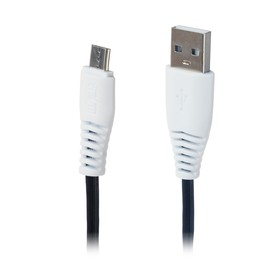 Кабель LuazON, micro USB - USB, 1 А, 1 м, черный Ош